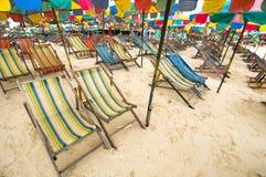 Beach chair , Phuket Thailand Royalty Free Stock Photo