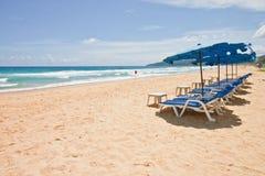 Beach chair at Phuket, Thialand. Beach chair at the beach on sunny day, Phuket, Thialand Stock Photos