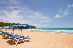 Beach chair at Phuket, Thialand Stock Image