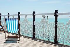 Beach chair on the pier Stock Photo