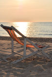 Beach chair relax thailand Royalty Free Stock Images
