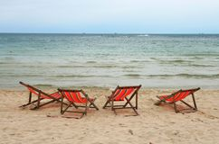 Beach Chair at Samui Island Royalty Free Stock Images