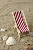 Beach chair on the sand Stock Photography