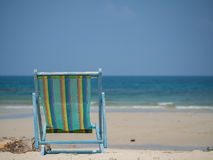 Beach chair on the sand Royalty Free Stock Images