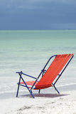 Beach chair on Sanibel beach Stock Photos