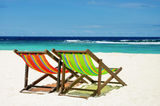 Beach chair with sea background Stock Photography