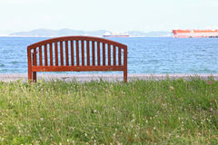 Beach chair with sea landscape Royalty Free Stock Photography