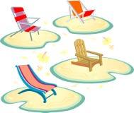 Beach Chair Set Royalty Free Stock Image
