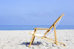 Beach chair stands alone Stock Photo