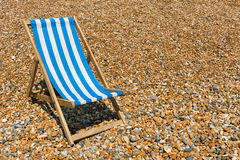 Beach chair. A beach chair at the stony beach royalty free stock photography