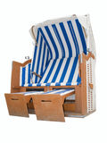 Beach chair striped Royalty Free Stock Photos