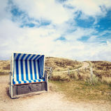 Beach chair on summer day Stock Photo