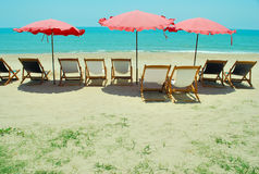 Beach chair. For tourist relax royalty free stock photo