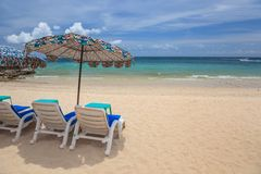Summer beach chair Royalty Free Stock Images