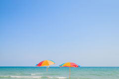 Beach chair and umbrella Royalty Free Stock Image