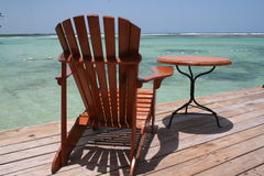 Beach chair under. In Boca Chica Stock Images