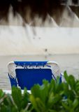 Beach chair  under palapa Royalty Free Stock Image