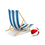 Beach chair Stock Image