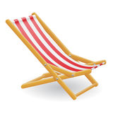 Beach chair vector illustration Stock Image