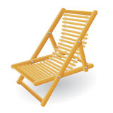 Beach chair vector illustration Royalty Free Stock Photography