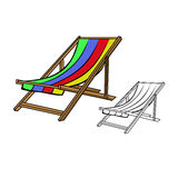 Beach chair. Vector illustration : Beach chair on a white background Royalty Free Stock Image