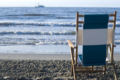 Beach Chair View Stock Photos