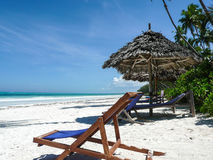 Beach chair Zanzibar. Stock Images
