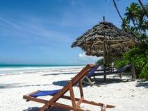 Beach chair Zanzibar. Stock Images