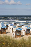 Beach chairs Stock Images