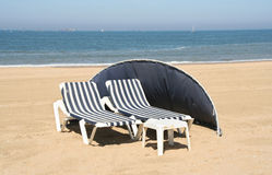 Beach Chairs Stock Photography