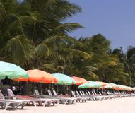 Beach chairs 2. Beach chairs, Boracay, Philippines Royalty Free Stock Image