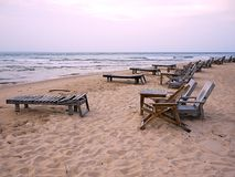 Beach and chairs Royalty Free Stock Photo