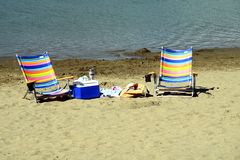 Free Beach Chairs Royalty Free Stock Image - 2741756