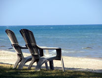 Free Beach Chairs Royalty Free Stock Image - 28626