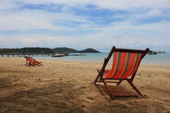 Beach chairs. Stock Photo