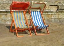 Beach chairs. Two beach chairs Stock Photo