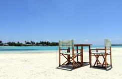 Beach chairs 4 Royalty Free Stock Photos