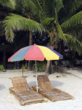 Beach chairs 5 Royalty Free Stock Images
