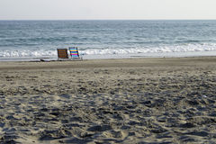 Beach chairs. With an ocean view Stock Image