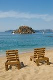 Beach Chairs - Acapulco Mexico Royalty Free Stock Photography