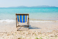 The beach chairs Royalty Free Stock Photos