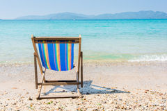 The beach chairs Stock Image