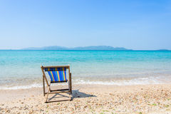 The beach chairs Stock Photography