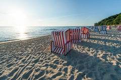 Beach chairs at the Baltic Sea Stock Image