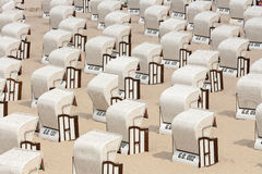 Beach chairs, baltic sea Royalty Free Stock Images