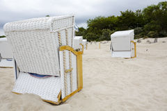 The Beach chairs at the Baltic Sea Stock Image