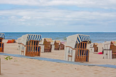 Beach chairs, baltic sea Royalty Free Stock Photo