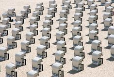 Beach chairs at the Baltic Sea, Germany Stock Photo
