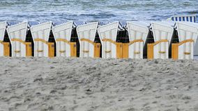 Beach chairs at the Baltic Sea Stock Images