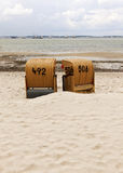 Beach Chairs at the Bay of Kiel Royalty Free Stock Images